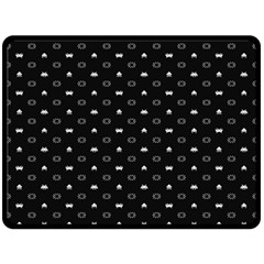 Space Black Double Sided Fleece Blanket (Large)