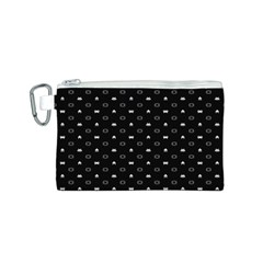 Space Black Canvas Cosmetic Bag (S)