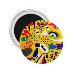 Yellow Eye Animals Cat 2.25  Magnets