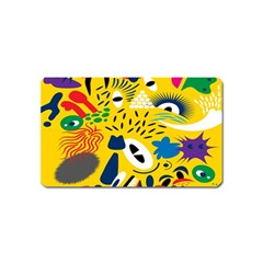 Yellow Eye Animals Cat Magnet (Name Card)