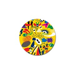 Yellow Eye Animals Cat Golf Ball Marker