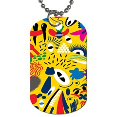 Yellow Eye Animals Cat Dog Tag (Two Sides)