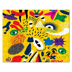 Yellow Eye Animals Cat Rectangular Jigsaw Puzzl