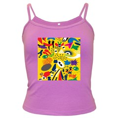 Yellow Eye Animals Cat Dark Spaghetti Tank