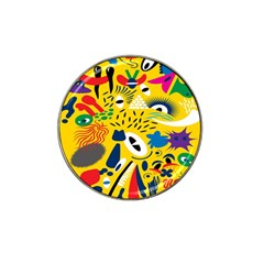 Yellow Eye Animals Cat Hat Clip Ball Marker (4 pack)