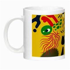 Yellow Eye Animals Cat Night Luminous Mugs