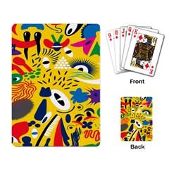 Yellow Eye Animals Cat Playing Card