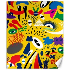 Yellow Eye Animals Cat Canvas 8  x 10
