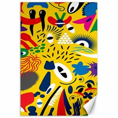 Yellow Eye Animals Cat Canvas 20  x 30