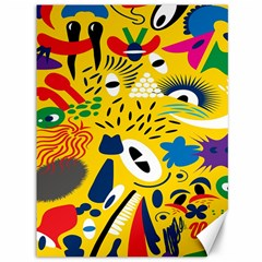 Yellow Eye Animals Cat Canvas 36  x 48