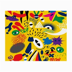 Yellow Eye Animals Cat Small Glasses Cloth (2-Side)