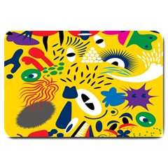 Yellow Eye Animals Cat Large Doormat