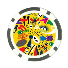 Yellow Eye Animals Cat Poker Chip Card Guard