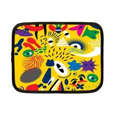 Yellow Eye Animals Cat Netbook Case (Small)
