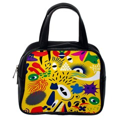 Yellow Eye Animals Cat Classic Handbags (One Side)