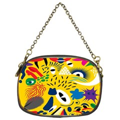 Yellow Eye Animals Cat Chain Purses (One Side)