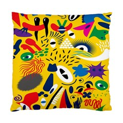 Yellow Eye Animals Cat Standard Cushion Case (Two Sides)