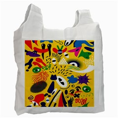 Yellow Eye Animals Cat Recycle Bag (One Side)