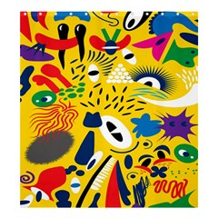 Yellow Eye Animals Cat Shower Curtain 66  x 72  (Large)