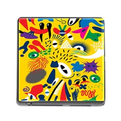 Yellow Eye Animals Cat Memory Card Reader (Square)
