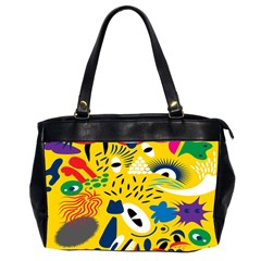 Yellow Eye Animals Cat Office Handbags (2 Sides)