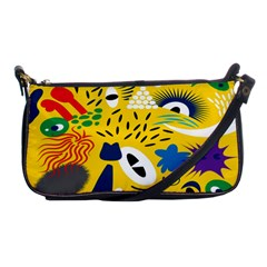 Yellow Eye Animals Cat Shoulder Clutch Bags
