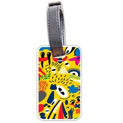Yellow Eye Animals Cat Luggage Tags (One Side)