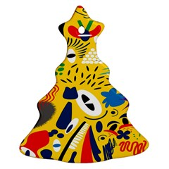 Yellow Eye Animals Cat Christmas Tree Ornament (Two Sides)