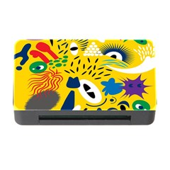 Yellow Eye Animals Cat Memory Card Reader with CF
