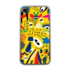 Yellow Eye Animals Cat Apple iPhone 4 Case (Clear)