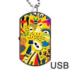Yellow Eye Animals Cat Dog Tag USB Flash (Two Sides)