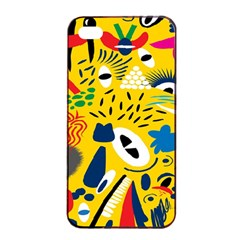 Yellow Eye Animals Cat Apple iPhone 4/4s Seamless Case (Black)