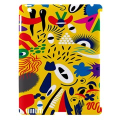 Yellow Eye Animals Cat Apple iPad 3/4 Hardshell Case (Compatible with Smart Cover)