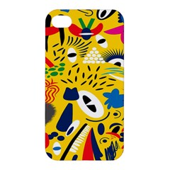 Yellow Eye Animals Cat Apple iPhone 4/4S Premium Hardshell Case