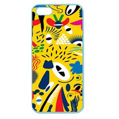 Yellow Eye Animals Cat Apple Seamless iPhone 5 Case (Color)
