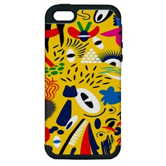 Yellow Eye Animals Cat Apple iPhone 5 Hardshell Case (PC+Silicone)