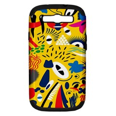 Yellow Eye Animals Cat Samsung Galaxy S III Hardshell Case (PC+Silicone)