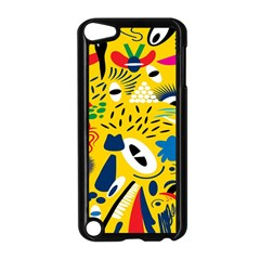 Yellow Eye Animals Cat Apple iPod Touch 5 Case (Black)