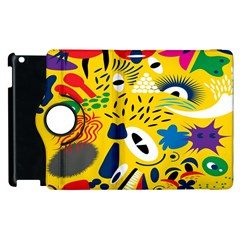 Yellow Eye Animals Cat Apple iPad 3/4 Flip 360 Case