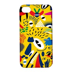 Yellow Eye Animals Cat Apple iPhone 4/4S Hardshell Case with Stand