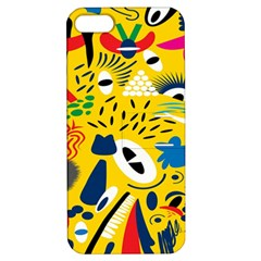 Yellow Eye Animals Cat Apple iPhone 5 Hardshell Case with Stand