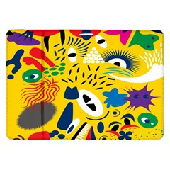 Yellow Eye Animals Cat Samsung Galaxy Tab 8.9  P7300 Flip Case