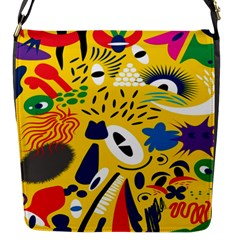 Yellow Eye Animals Cat Flap Messenger Bag (S)