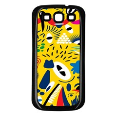 Yellow Eye Animals Cat Samsung Galaxy S3 Back Case (Black)