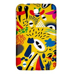 Yellow Eye Animals Cat Samsung Galaxy Tab 3 (7 ) P3200 Hardshell Case