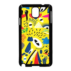 Yellow Eye Animals Cat Samsung Galaxy Note 3 Neo Hardshell Case (Black)