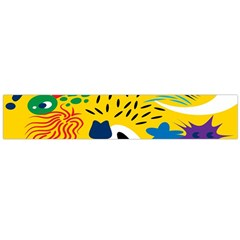 Yellow Eye Animals Cat Flano Scarf (Large)