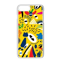 Yellow Eye Animals Cat Apple iPhone 7 Plus White Seamless Case
