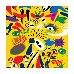 Yellow Eye Animals Cat Square Tapestry (Large)