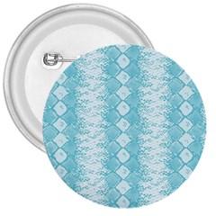 Snake Skin Blue Chevron Wave 3  Buttons